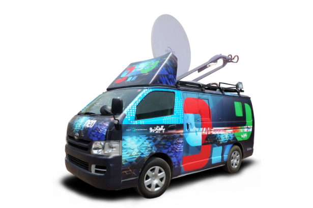 Digital Satellite News Gathering Vehicle